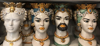 a photo of teste di moro ceramic heads